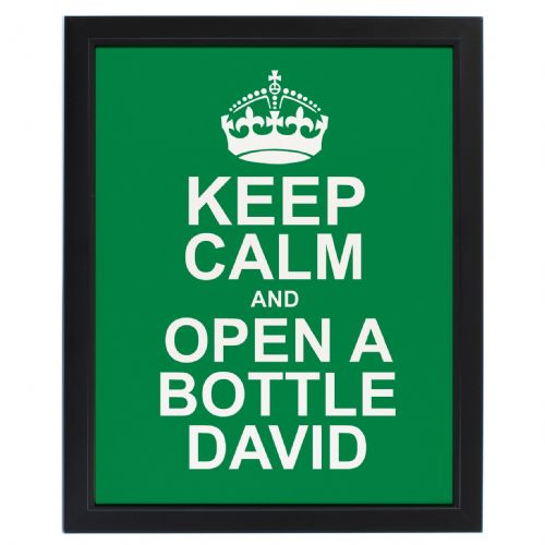 Personalised Keep Calm Green Framed Print